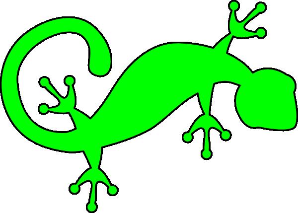 bright green gecko clip art at clker - vector clip art online