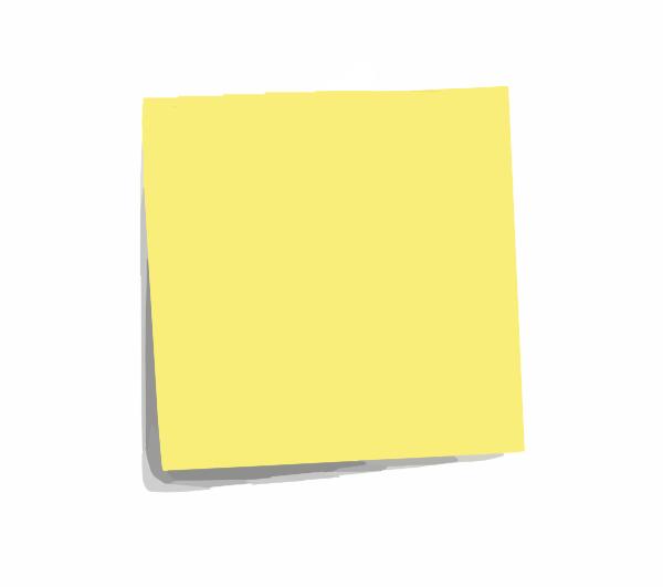 Post It Note Plain Clip Art at Clker.com - vector clip art ... - photo#42