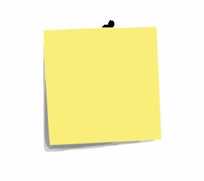 Post It Note Plain Clip Art at Clker.com - vector clip art ... - photo#27