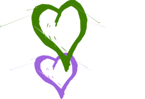 Double Hearts Linked Clip Art