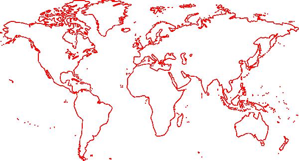 Empty Map World Red Clip Art At Clker Com Vector Clip Art Online