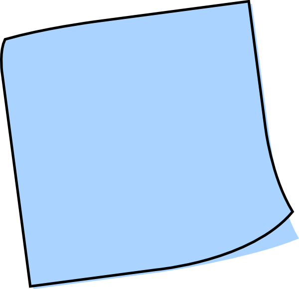 Sticky note clipart