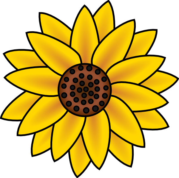 Sunflower Clip Art at Clker.com - 149.1KB