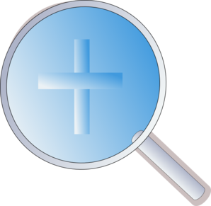 Magnifying Glass Plus Sign Clip Art