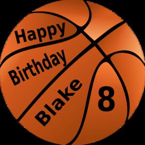 happy birthday basketball clip art at clker com vector clip art rh clker com basketball clipart images free basketball clipart free download