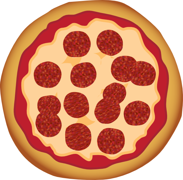 Pepperoni Pizza Clip Art at Clker.com - vector clip art online ...