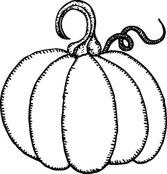 Pumpkin Outline Clip Art at Clker.com - vector clip art online ...