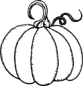 Pumpkin Outline Clip Art