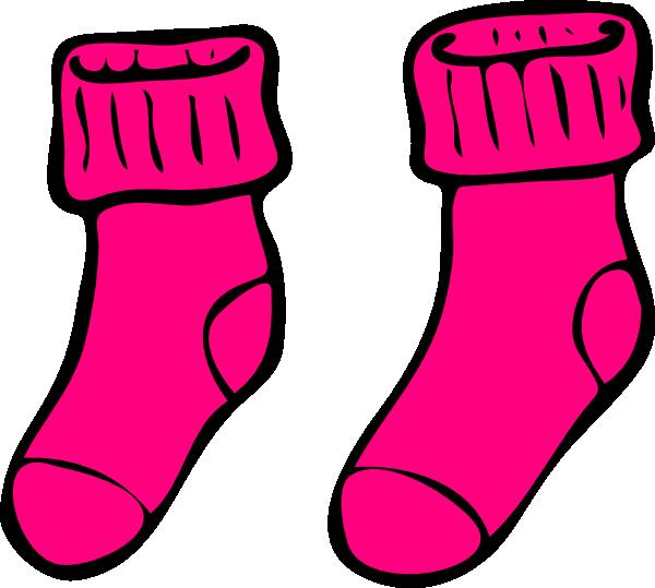 pink sock clip art at clker com vector clip art online royalty rh clker com clip art shoes and boots clip art shoes of peaces