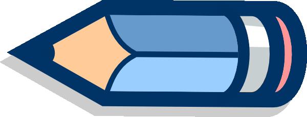 blue pencil horizontal clip art at clker com vector clip art online royalty free public domain