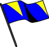 Blue Gold Black Flag Clip Art