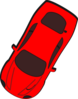 Red Car - Top View - 240 Clip Art