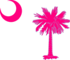 Sc Palmetto Tree Pink Clip Art