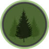 Evergreen Symbol 2 Clip Art