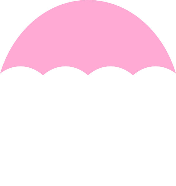 Umbrella Light Pink Clip Art at Clker.com - vector clip ...