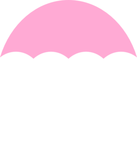 Umbrella Light Pink Clip Art