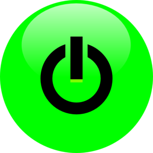 Green Power Button Clip Art