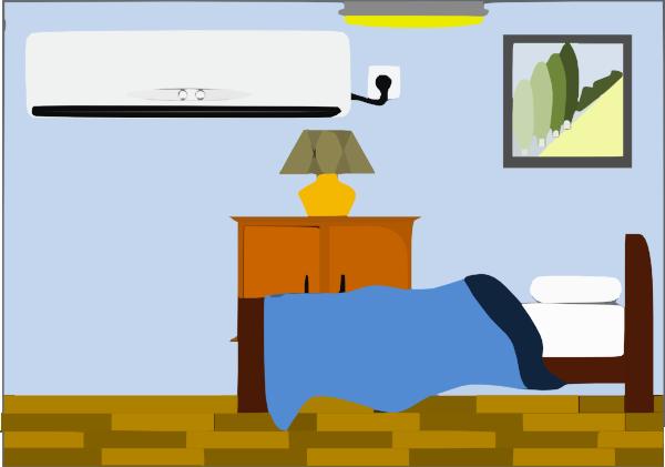 bedroom w o heater clip art at vector clip art