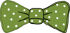 Bow Tie Green Clip Art