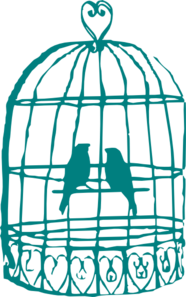 Love Birds In Cage Clip Art