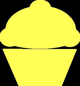 Cupcake yellow PNG Transparent Image.