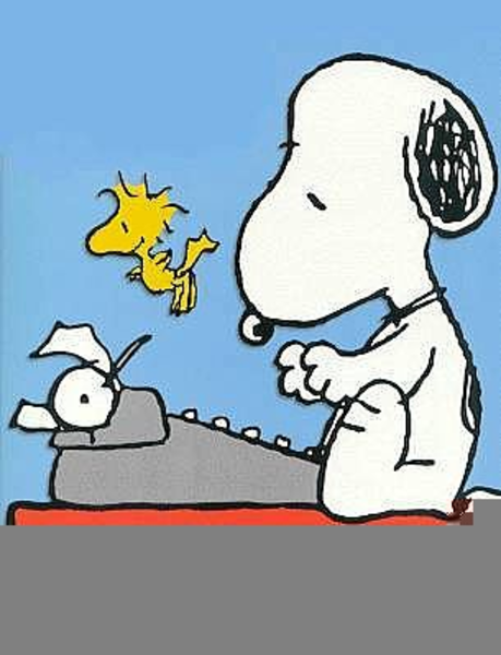 Image result for snoopy typewriter