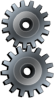 Valessiobrito Two Gears Gray Clip Art