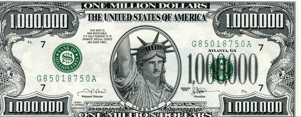 One Million Dollar Bill Clipart | Free Images at Clker.com ...