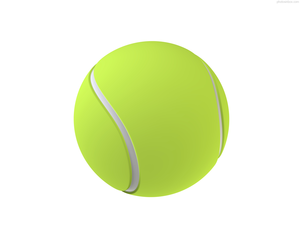 Isolated Tennis Ball Image