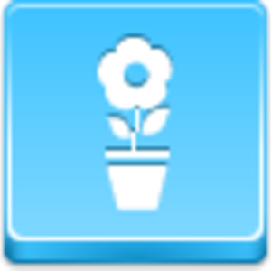 Free Blue Button Icons Pot Flower Image