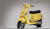 Yellow Vespa Scooter Image