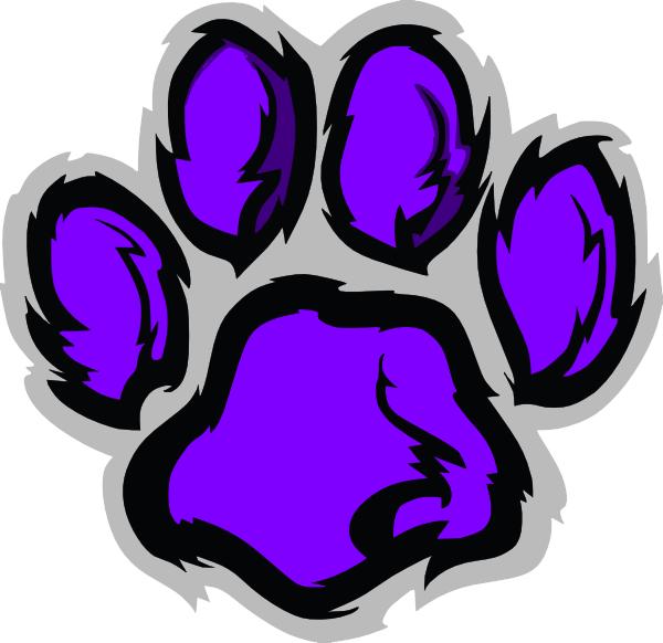 wildcat pawprint clip art at clker com vector clip art online rh clker com Wildcat Paw Print Coloring Pages wildcat paw print clip art free