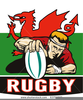 Welsh Rugby Ball Clipart Image