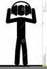 Man With Headphones Clipart Image
