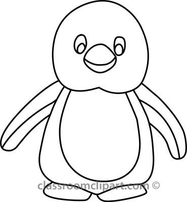 Penguin B Outline | Free Images at Clker.com - vector clip art online ...