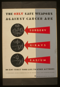 The Only Safe Weapons Against Cancer Are Surgery, X-rays [and] Radium Do Not Trust Your Life To Other Methods. Image