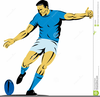 Free Clipart Rugby Player Image