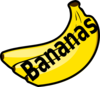 Bananas With Spelling Clip Art