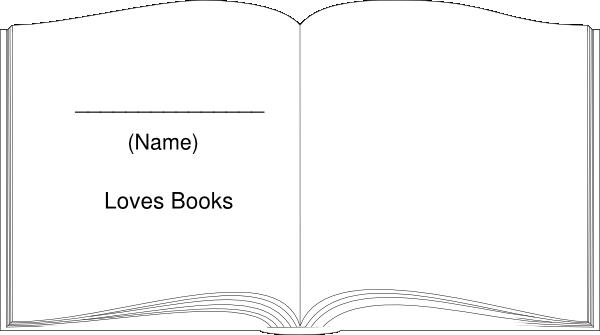 Book Outline Large White Clip Art at Clker.com - vector ...