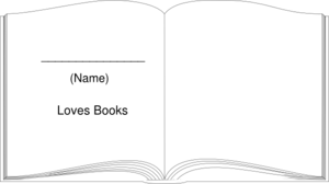 Book Outline Large White Clip Art