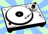 Turntable Music Player Clip Art