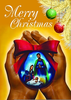 African American Religious Christmas Clipart Image