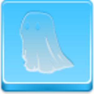 Free Blue Button Icons Ghost Image
