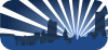 Blue City Scene Clip Art