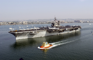 Uss Constellation (cv 64) Departs Naval Air Station North Island At The Start Of A Regularly Scheduled Six-month Deployment In Support Of Operation Enduring Freedom. Image
