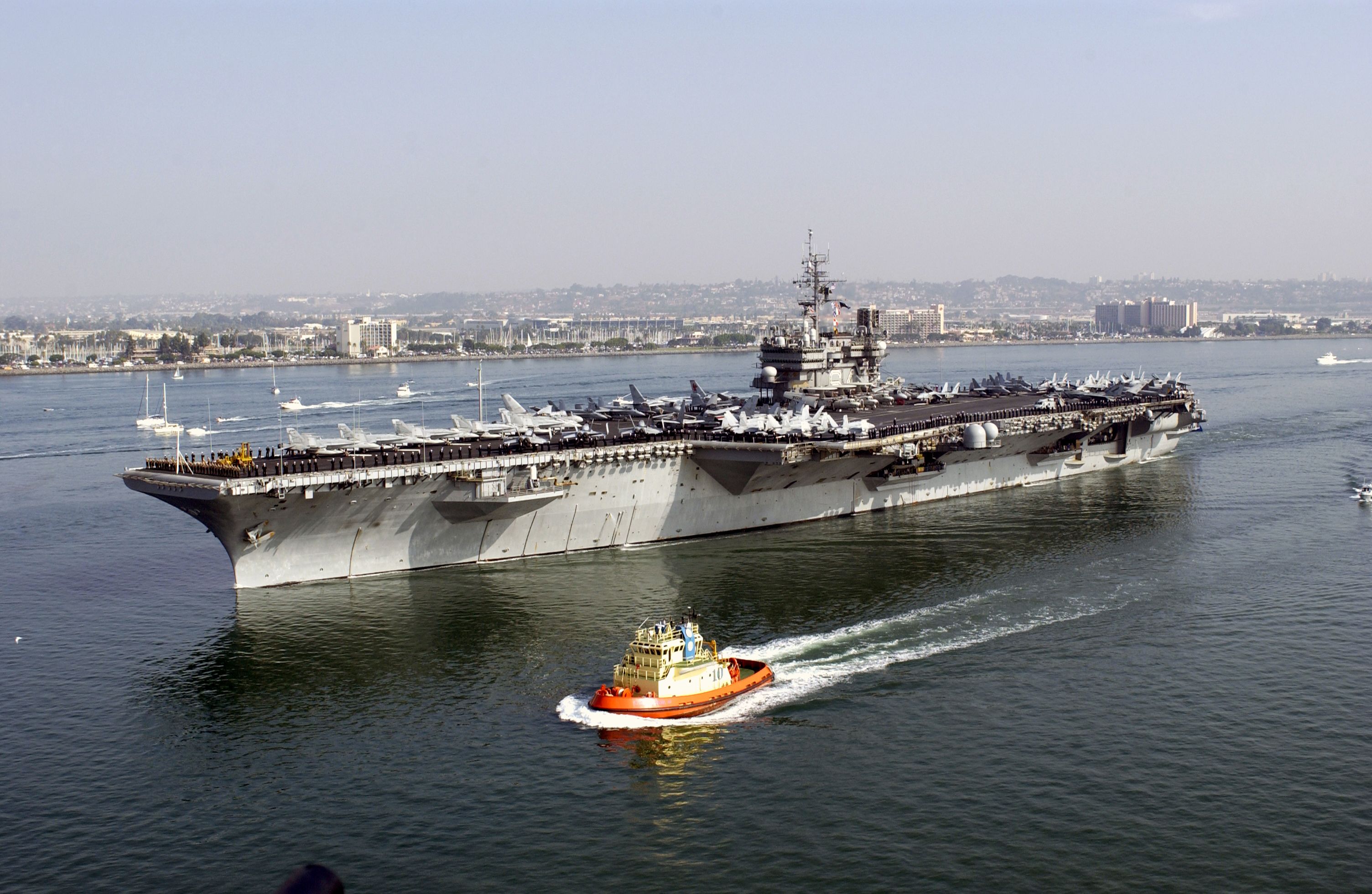 uss constellation  cv 64  departs naval air station north island at the start of a regularly