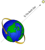Earth And North Star Clip Art