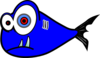 Blue Fish Black Test 3 Clip Art