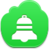 Free Green Cloud Christmas Bell Image
