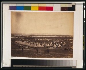Looking Towards Mackenzie S Heights, Tents Of The 33rd Regiment In The Foreground Image